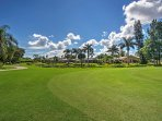 Enjoy beautiful golf course views from this Fort Meyers vacation home.