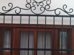 Detail of wrought iron window bars