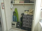 Closet with Futons (2 twin, 1 small), Play Yard Sleeper, Tie-on High Chair, Stroller, Safe, Vacuum