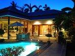 Nightfall over the villa