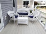 Beautiful 2nd story deck with distant ocean view