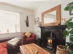 Log Fire Sitting Room
