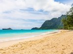 Waimanalo Beach with Manana Island