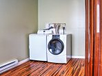 Keep your clothes fresh and clean during your entire stay with the convenient in-unit laundry machines.