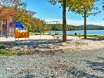 Let the kids release their energy by playing at the park while you watch and relax by the lake, right across from the...