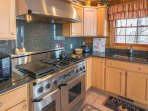 Kitchen with gas range