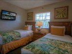 Sample image 2 of a guest bedroom with twin beds (some second bedrooms have a queen bed)