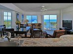 Sample image of the view from a Deluxe, Oceanview, corner suite