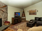50' flat screen HD TV & upgraded HD Cable pkg in living area