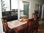 Enjoy the view during meals at the lovely kitchen table