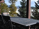 Enjoy dining al fresco on the large deck with a million $$ view!