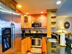 Pleasant kitchen space makes this vacation rental a home away from home
