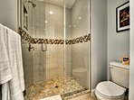 Walk in shower in master bathroom