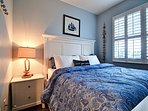 Fun nautical style and flat screen TV in every bedroom