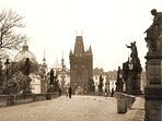 Charles bridge, 20 minutes by the public transport.