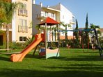 Children's play area, very safe within the complex, near the pool