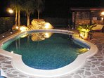 The terrace pool by night!