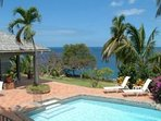 Cool off in the pool or work on your tan in the sun, all while gazing out at the Caribbean sea!