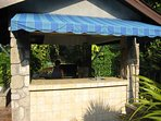 Outdoor bar and barbecue on pool deck---great for entertaining!