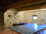 Games room in the cool basement which leads