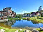 Steps away from the condo is the Resort Pond. In the Winter you and your family can Ice Skate