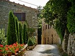 Castiglioncello's Medieval entrance road