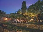 Amita private outdoor dining pergola