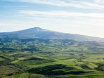 The undulating hills of Val d'Orcia