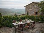 Dine al fresco while enjoying Monteverdi's world class enoteca.
