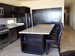 Functional eatin kitchen with large island for entertaining