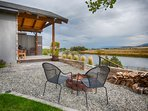 Your own fire pit area to wind down after your adventurous day. S'mores...