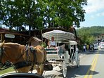 Carriage Rides in Downtown Helen