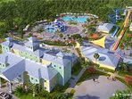 Club house, water park, tennis court, basketball court and lots of more.