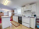 Large kitchen with all major appliances and necessities to cook a homemade meal