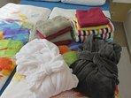 Bereitgestelltes Wäsche-Set -im Mietpreis inbegriffen