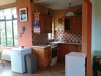 Small but fully equipped kitchen.