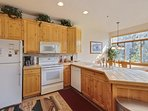 Beautifully appointed kitchen fully stocked and all appliances.  great views of ski runs at canyons