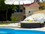 Terrace, outdoor furniture,  villa Ivana, Split