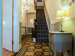 Hallway with Original Victorian Minton Floor Tiles