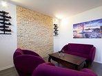 Living room, sofa, villa Ivana, Split