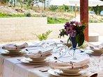 Outdoor dining table, villa Ivana, Split