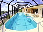 Southfacing pool