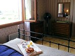 Bedroom 2 with double bed and views over countryside