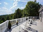 Sitting area on large back deck with long range views.