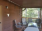 Covered top deck next to kitchen for grilling at anytime