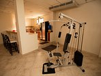 Get your pump on with the convenient fitness equipment.