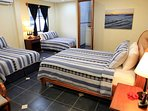 These 3 Queen-sized Beds provide plenty of extra sleeping space to accommodate numerous guests.
