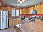 The fully equipped kitchen provides you with everything you need to show off your cooking skills!
