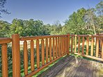 Constantly admire the beauty of nature from the spacious private deck!