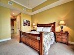 Inviting master bedroom.